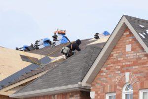Roofers repairing a home in Staunton, Virginia